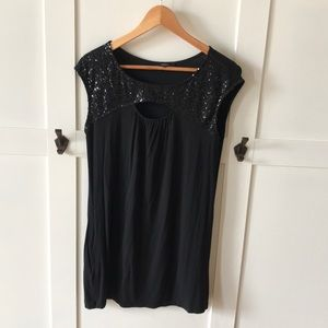 Express sequin tunic.